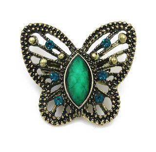 Broche mariposa verde