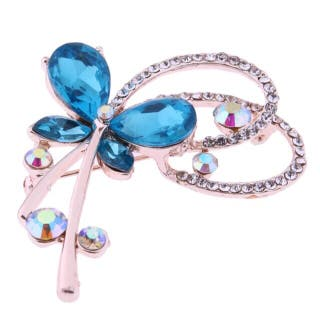 Broche mariposa azul