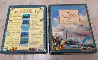 Their Finest Hour Lucasfilm. PC Caja grande carton