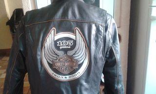 Chaqueta de cuero Harley Davidson Celebración 105