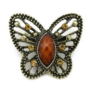 Broche mariposa marrón