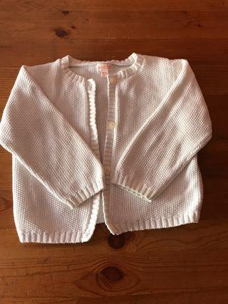 Chaqueta punto blanca bebé 18/24 meses Gocco