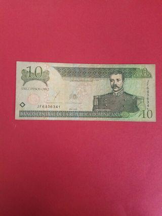 billete rep dominicana 10 pesos oro 2003 BC-