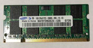 Memoria Ram DDR2 1gb portátil.