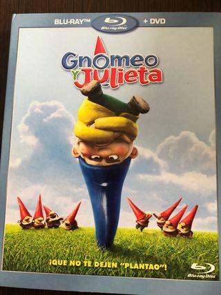 Pelicula bluray y DVD gnomeo y julieta