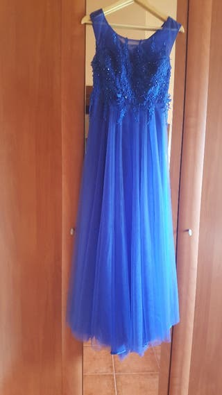 Vestido ceremonia azulón talla 38-40