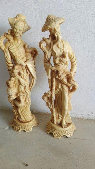 figuras chinas de pasta o resina