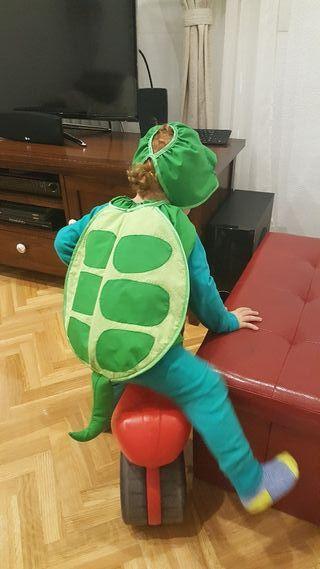 Disfraz unisexo de tortuga talla 2 años