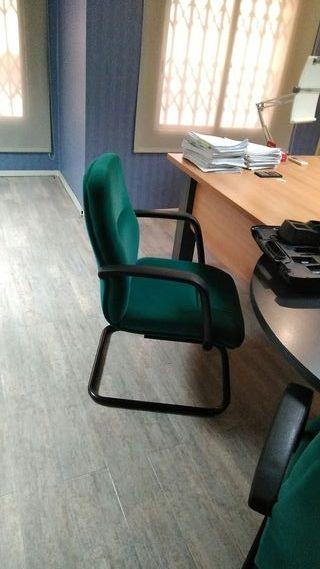 Silla moderna acolchada oficina terciopelo verde
