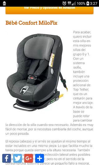 sillita coche isofix bebéconfort milofix