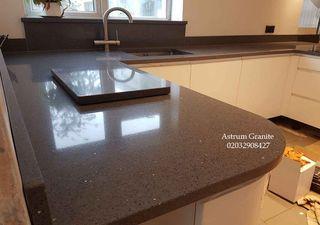 Buy Grey Mirror Quartz Worktop for Kitchen & Home