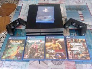 PS 4 de 1tb con 5 juegos y 2 mandos Vélez Rubio
