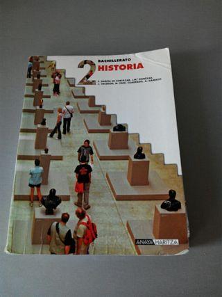 Libro de texto Historia 2 bachillerato.