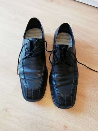 zapatos piel negros Luigi Cardani num42