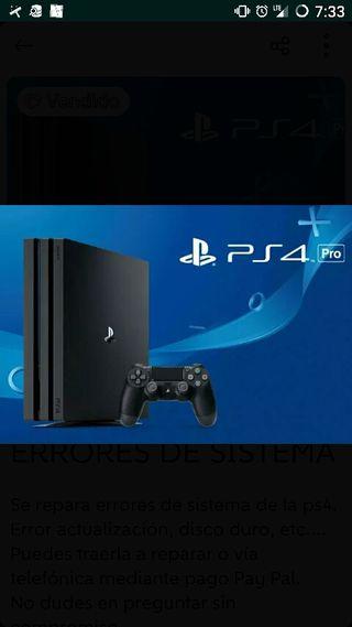 PS4-PS3 REPARACIÓN ERRORES SISTEMA