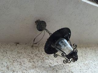 Lámparas antiguas forja