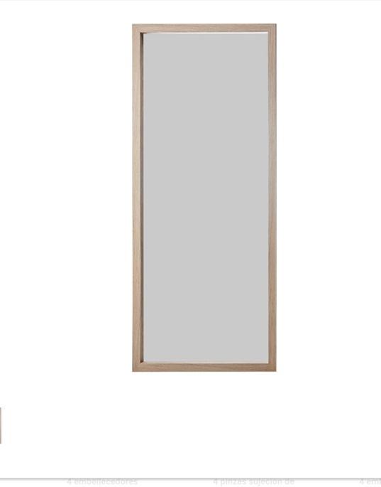 Espejo muy grande con marco de madera de segunda mano por 70 € en ...