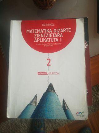 Matemáticas gizarte, 2°batxiller