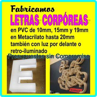 LETRAS CORPOREAS 3D, CARTELES, VINILOS, PEGATINAS