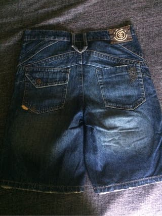 pantalon corto vaquero element