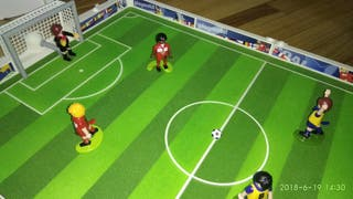 Futbolin playmobil
