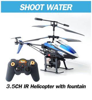 Helicóptero Rc con cañón de agua