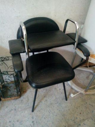 silla de labacabezas y alzador