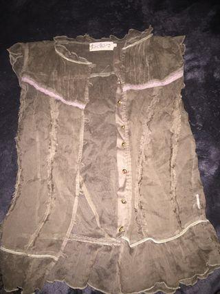 Preciosa camisa de seda de bdba