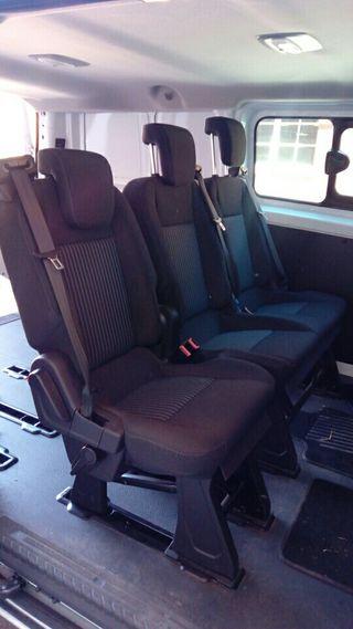 asientos seients sillins 2+1 ford custom transit