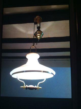 Lámpara vintage de contrapeso