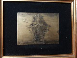 Cuadros de barcos en metal