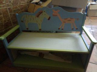 banco madera niños