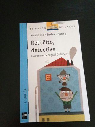 """Libro lectura """"Retoñito detective"""". Barco de Vapor"""