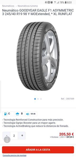 245 40 19 98y neumáticos