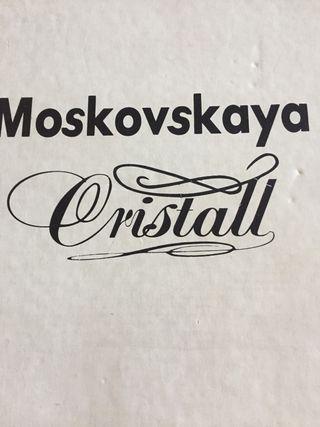 Vasos cristall colección Moskovskaya