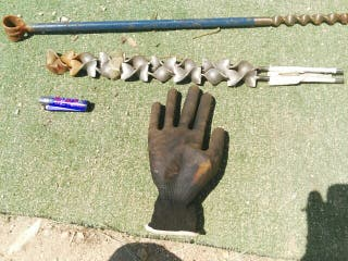 lote brocas grandes herramientas