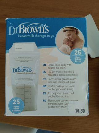 2 paquetes de bolsas para leche materna