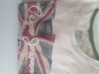 Camiseta Pepe jeans color crema