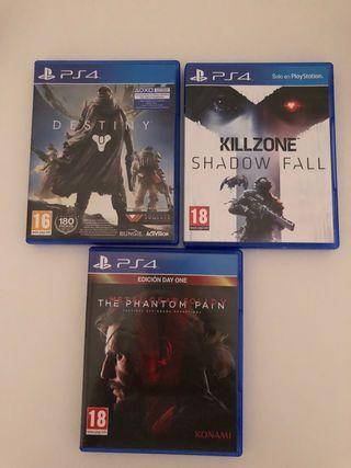 DESTINY PS4 + KILLZONE SHADOW FALL+ THE PHANTOM...