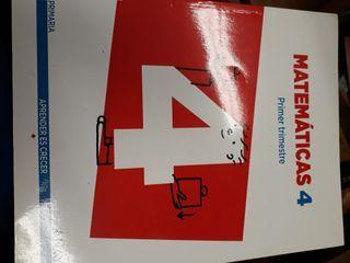 libros de cuarto de primaria matematicas e ingles