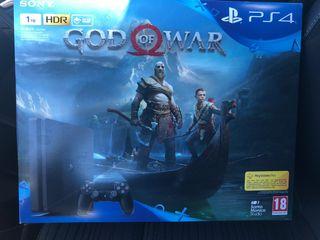 Play Station 4 ( 1 Tera + God of War)