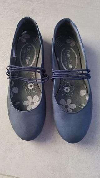 Manoletinas azul talla 39