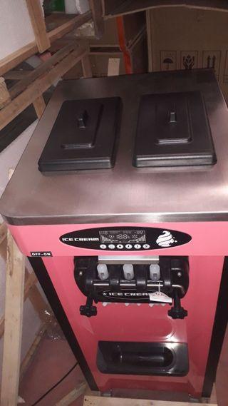 Maquina helado soft nueva sistema nocturno 3grifos