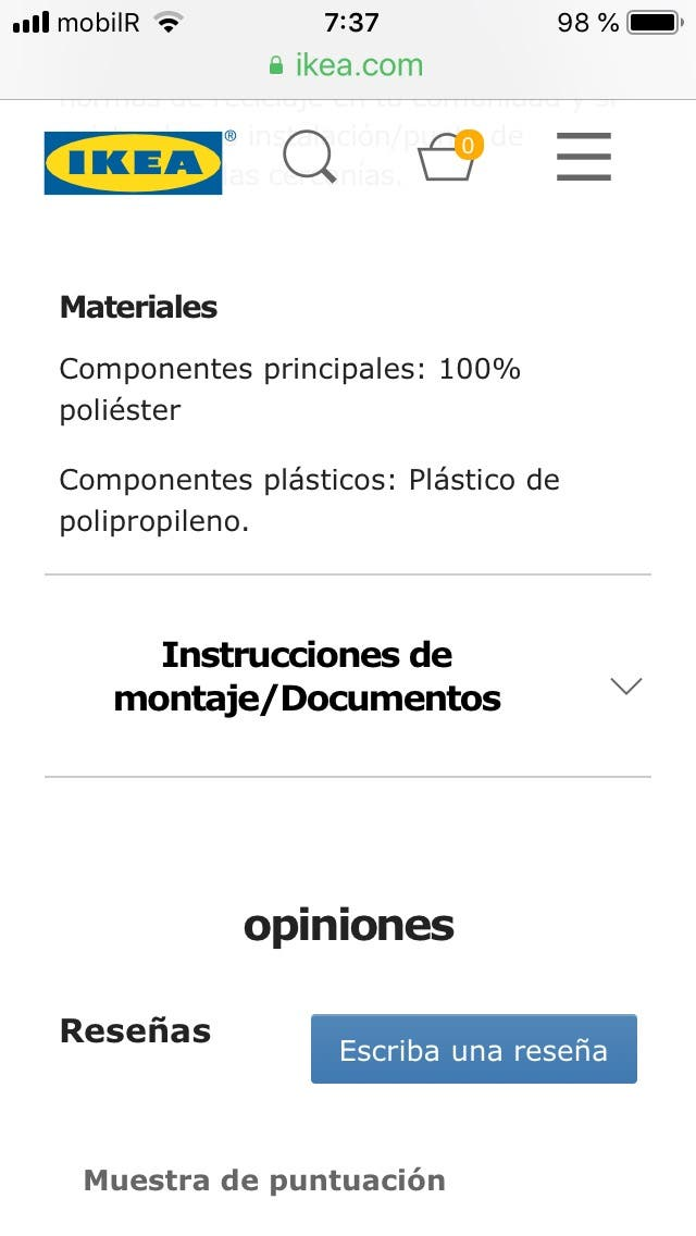 Estor plisado Ikea de segunda mano por 350 € en Pontevedra en WALLAPOP