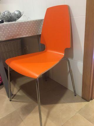 Naranjas Unidades € De 15 Segunda Por Sillas Ikea2 En Mano ULVGSpqzM