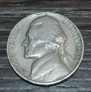 cinco centavos de dollar 1964