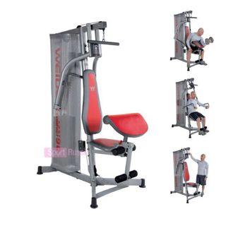 Multiestacion gimnasio ejercicios + banco abdomin