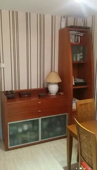 Mueble salón madera cerezo maciza