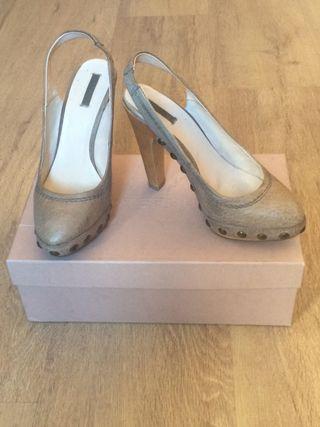 Zapatos cuero Uterque