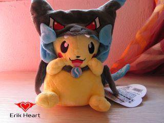 Peluche pikachu negro nuevo (tipo 1)